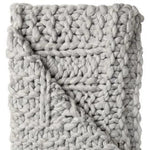 Chunky Knit Throw - Grey