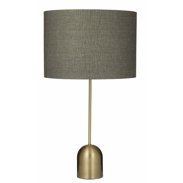 Table Lamp - Brass Base and Grey Shade