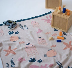 Baby Blanket - Under the Sea - Pink