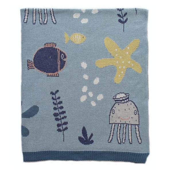 Baby Blanket - Under the Sea - Blue