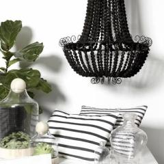 Black Beads Chandelier - PREORDER this now.