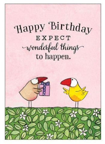 Card mini: Happy Birthday - by Twig seed