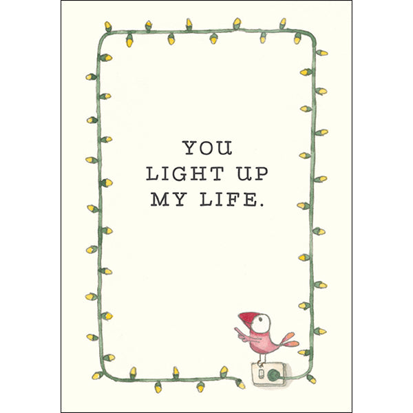 Card mini: You Light up My Life- by Twig seed