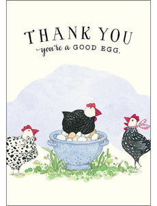 Card mini: Thank You, You're a Good Egg - by Twig Seed