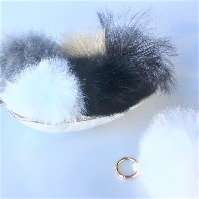 Fox Fur Bag Pom Pom