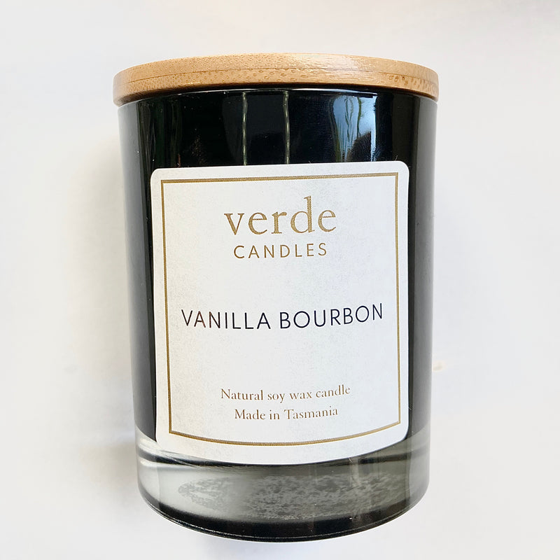 Verde Soy Wax Candle - Black Glass