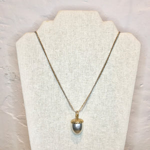 Gold and Silver Acorn Necklace