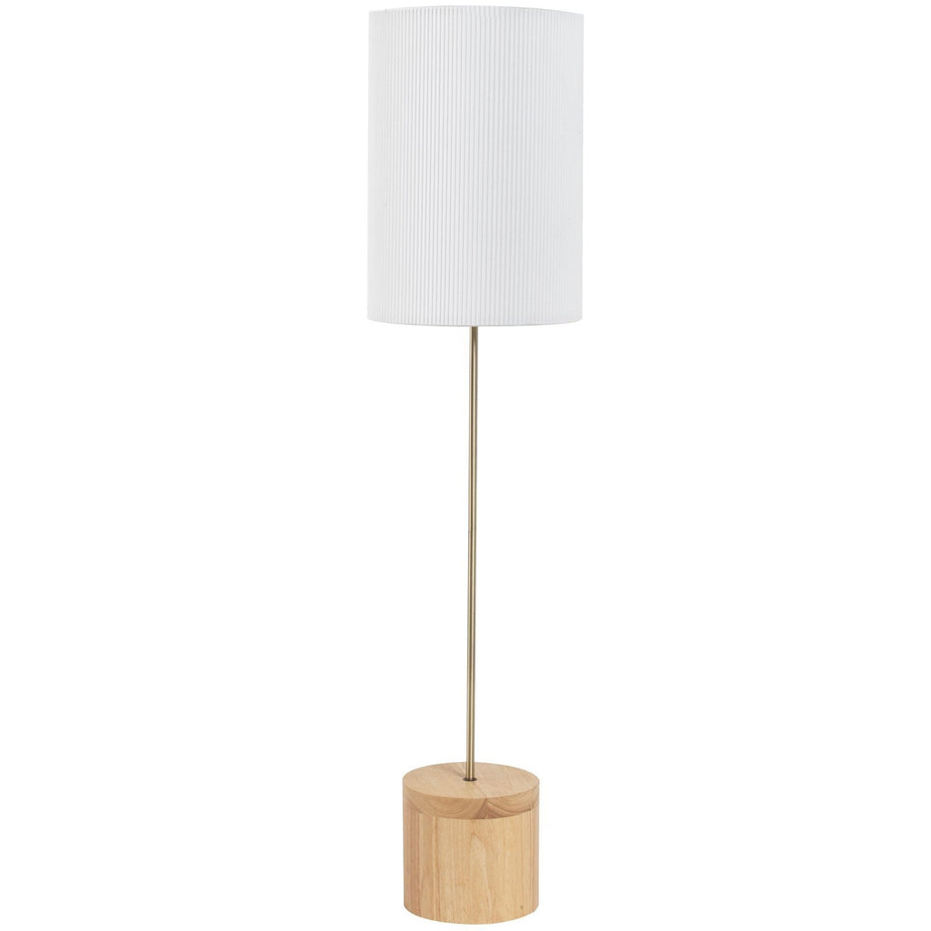 Simple White Wood Floor Lamp