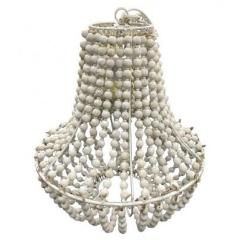 Natural White Bead Chandelier