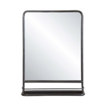 Vertical Metal Mirror with Shelf