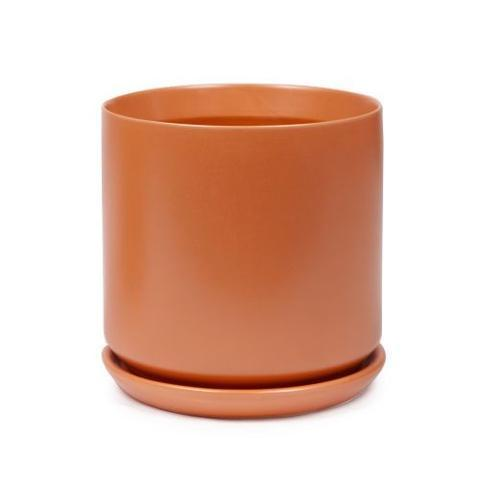 Pot Cylinder with Saucer - Terracotta