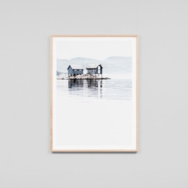 Boat House Reflection Print