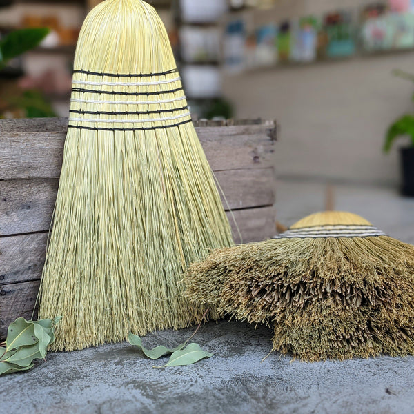 Tumut Woolshed Broom - Natural Outdoor Millet Broom.