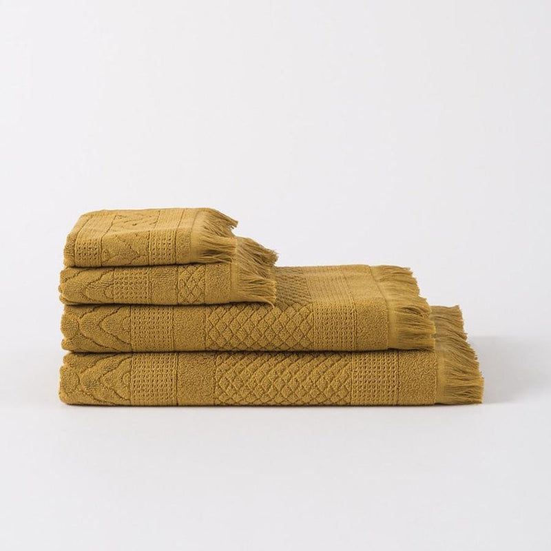 100% Cotton Jacquard Towel Set - Citron
