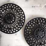 Black Cast Iron Trivet