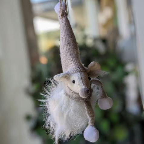 Christmas Decoration - Fluffy Mouse