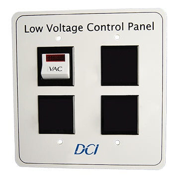 Low Voltage Control Panel, Single Switch