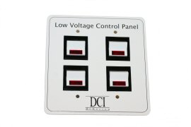 Low Voltage Control Panel, Quad Switch