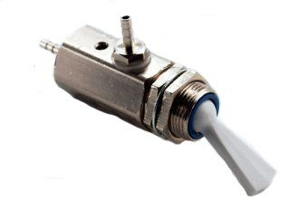 Toggle Cartridge Valve, On/Off, 3-Way, Normally Closed, Gray