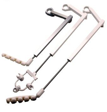 Telescoping Arm w/4 Position Holder, White