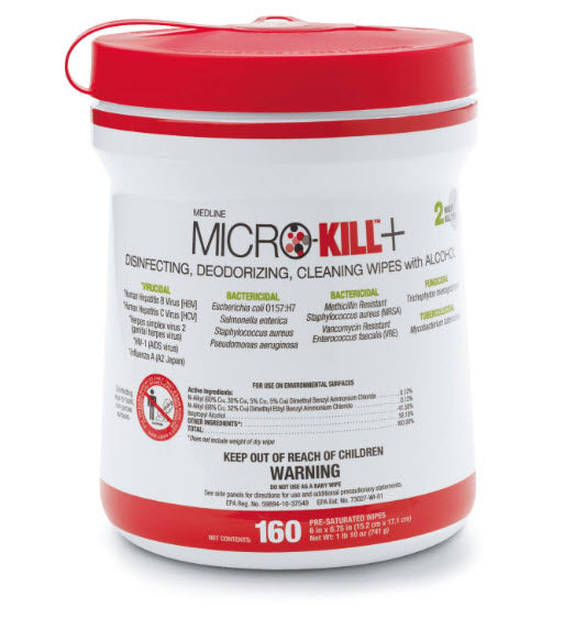 Micro-Kill+ Disinfectant Wipes - 6