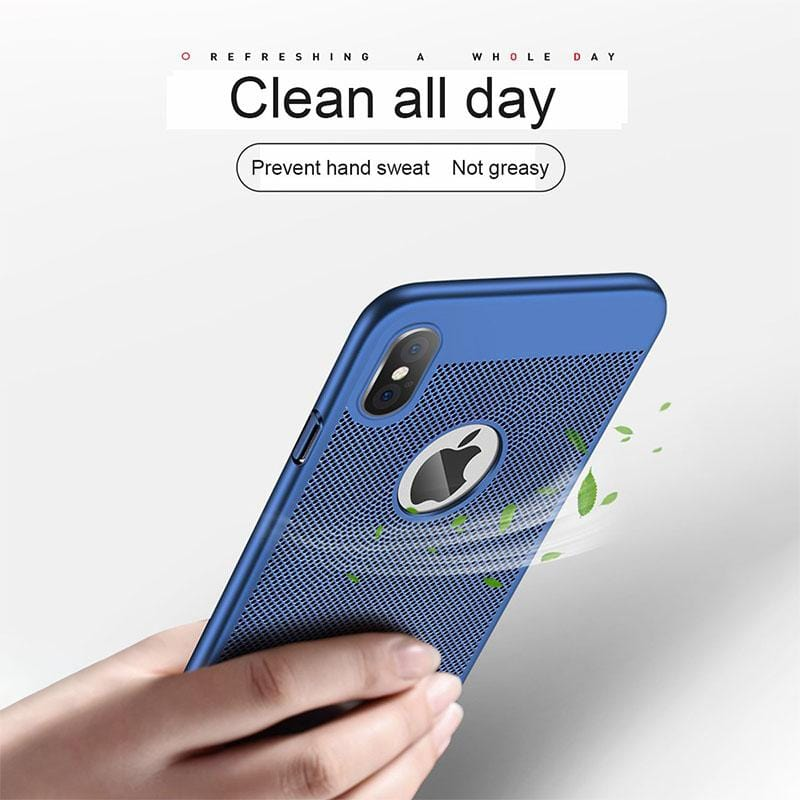 Summer Beathable Cooling Phone Case  For iPhone 6/6S/6 Plus/6S Plus/7/8/7 Plus/8 Plus/X/XR/XS MAX