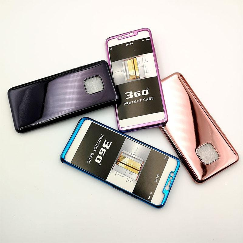 Electroplated PC 360 All-inclusive Mobile Phone Case For Y6/Y7/Y7 Pro/Y9