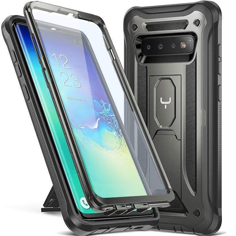 Heavy Duty Protection Case Kickstand with Built-in Screen Protector Shockproof Case Cover for Samsung Galaxy Note 9/S9/S10/S10+