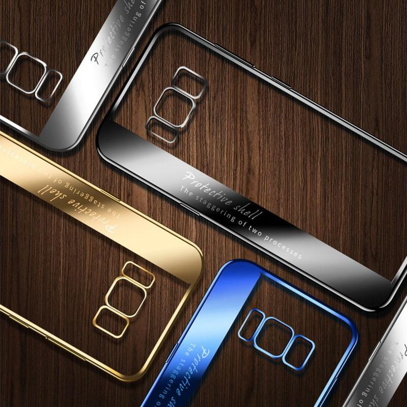 Color Plated Transparent TPU Soft Shell For Samsung S7/S7 Edge/S8/S8 Plus/S9/S9 Plus/S10/S10e/S10 Plus/Note 8/Note 9