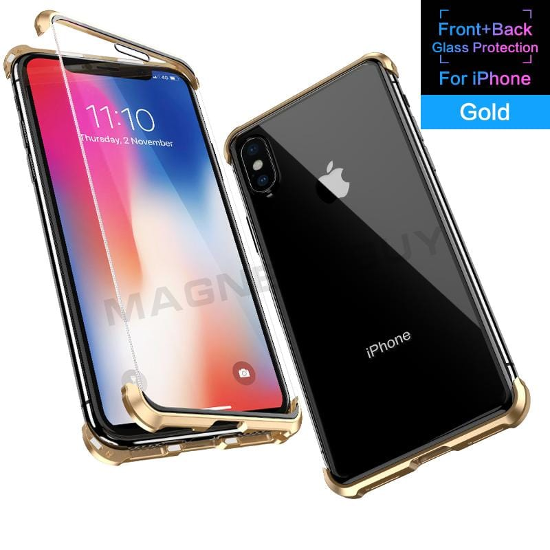 Frameless Magnetic Phone Case for iPhone/Samsung/Huawei