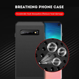 Summer Beathable Cooling Phone Case  For Samsung S7/S7 Edge/S8/S8 Plus/S9/S9 Plus/S10/S10 Plus /S10 Lite/Note9/Note8