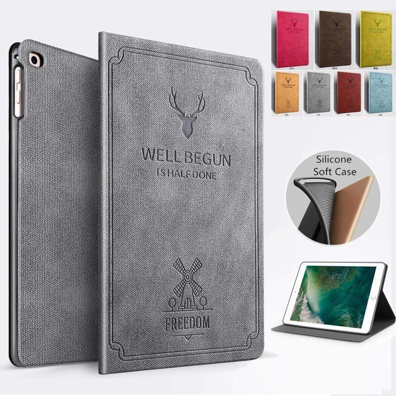 Deer head windmill iPad soft shell of iPad9.7(2017/2018)/Air1/Air2/ iPadmini1/2/3/ iPadmini4/5/ iPad2/3/4/ iPadPro11