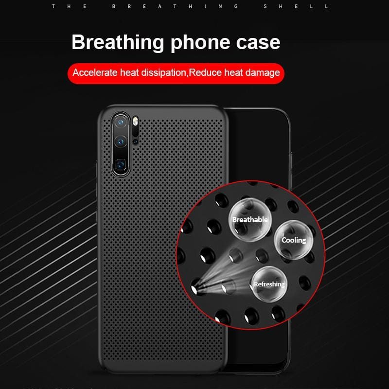 Summer Breathable Cooling Phone Case For Huawei P20/P20 Pro/P20 Lite/Nova 3e/P30/P30 Pro/P30 Lite