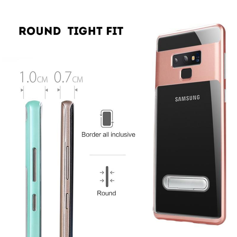 Anti-drop Silicone Bracket Phone Protects the Soft Shell For Samsung S7/S7 Edge/S8/S8 Plus/S9/S9 Plus/S10/S10e/S10 Plus/Note 8/Note 9