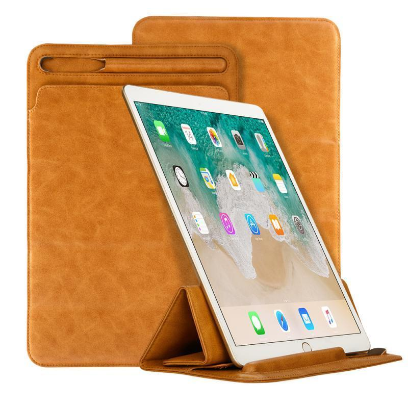 Luxury Microfiber Sleeve Case Retro Pouch Bag Folding Cover Pen Slot for iPad 9.7/10.5