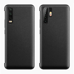 For Huawei P30 Pro Smart View Window Flip Leather Shockproof Case Cover Luxury Mirror Flip Case