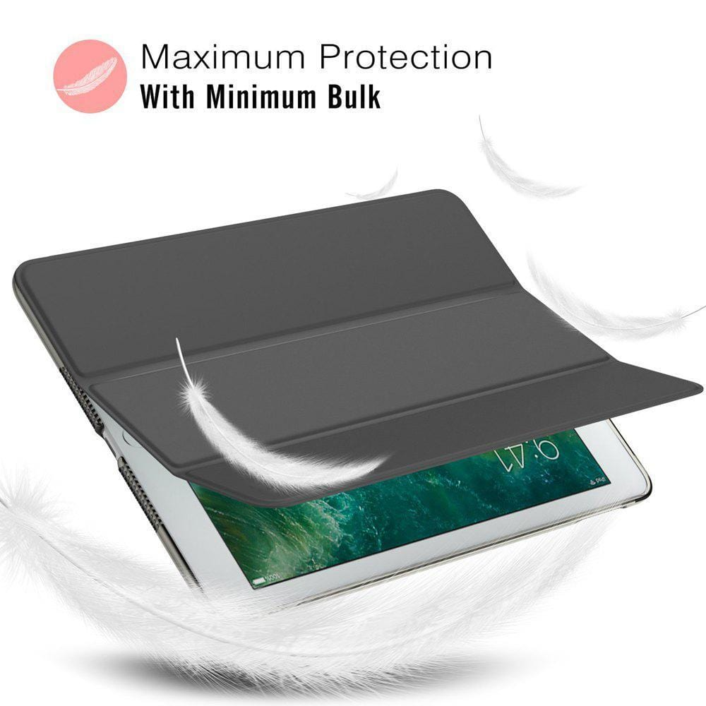 Leather Front  PU Cover Ultra-thin triple fold case smart sleep protection cover for iPad