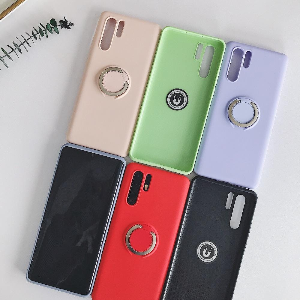 Applicable Liquid Silicone Ring Bracket Mobile Phone Case for Huawei