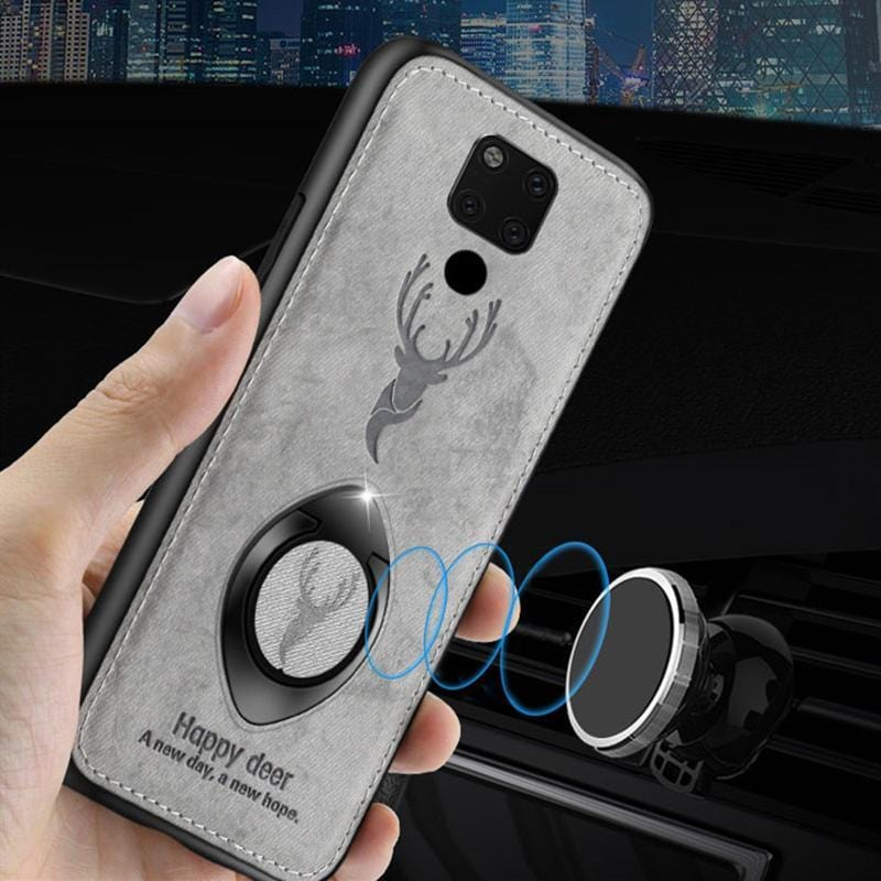 Luxury Deer Cloth Silicone Soft Edge Ring Bracket Phone Case for Huawei Mate10 Mate10pro Mate20 Mate20pro Mate20X Mate9
