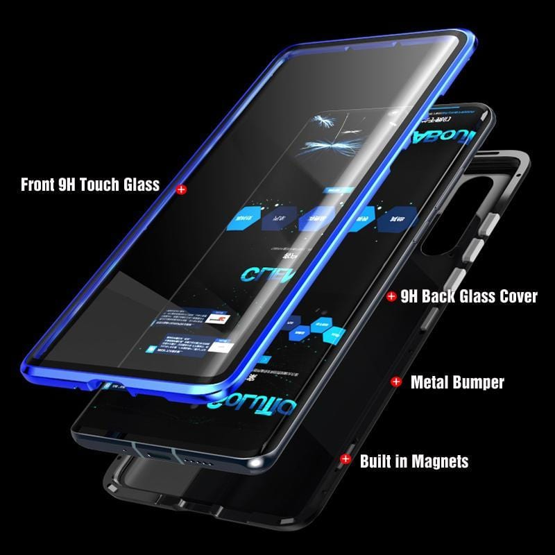 Luxury Full Body Protective Magnetic Case Two Side Glass Cover For Huawei P30Pro/P30/P30Lite