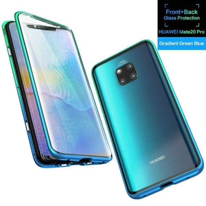 Gradient Color Frame Magnetic Phone Case For Huawei Mate 20 Pro