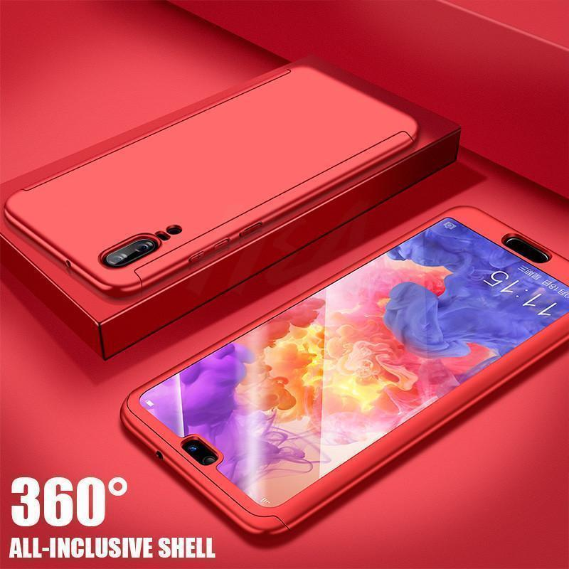 Case Luxury Hard PC 360 Full Cover With Surface soft film Protective Back Cover for HUAWEI P20 P10