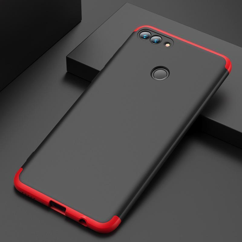 3 in 1 Double Dip 360°Full Cover Protection Hard PC Protective Case For Huawei Y7(2018)/Y9(2018)