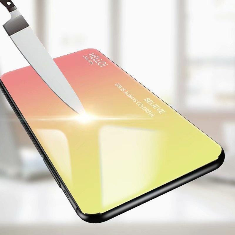 Luxury Hard Tempered Glass Fashion Gradient Protect Back Cover case For Huawei mate 10 9 PRO P30 PRO Y9(2019)