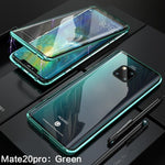 Luxury Magnetic Metal Aluminum Alloy Transparent Two Side Glass Cover Phone Case For HUAWEI Mate20 Pro