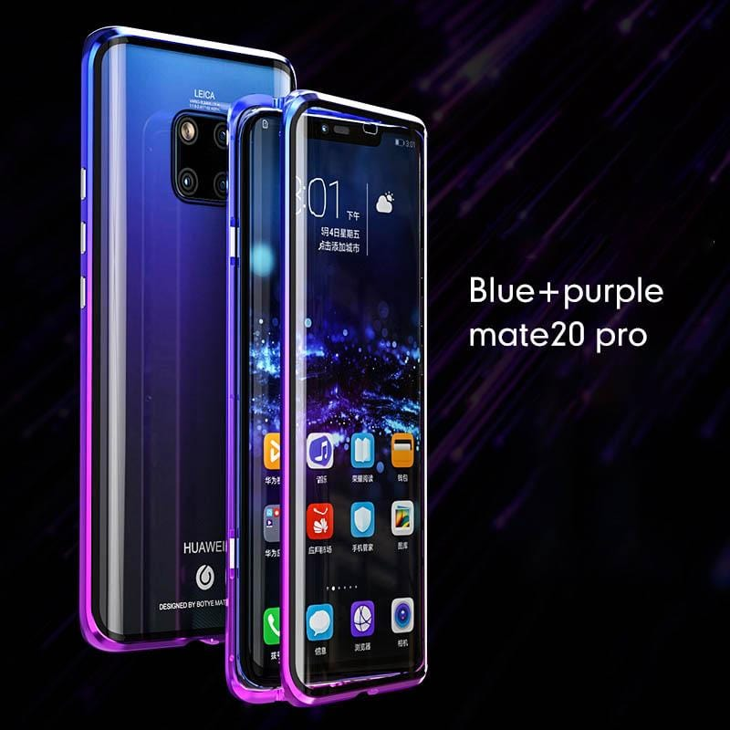 2019 New Gradient Color Frame Magnetic Phone Case For Huawei Mate 20 Pro/Huawei P30 Pro