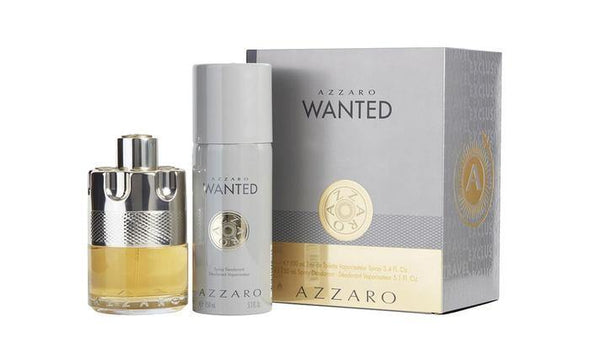 Azzaro Wanted Gift Set By Azzaro Gift Set - 3.4 oz Eau De Parfum Spray + 5.1 oz Deodarant Spray Azzaro 3.4 oz Eau De Parfum Spray + 5.1 oz Deodarant Spray