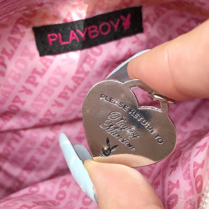 Please return to Playboy mansión Necklace Silver/Black.