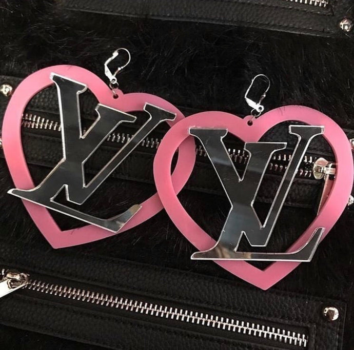 LV HEART HOOPS