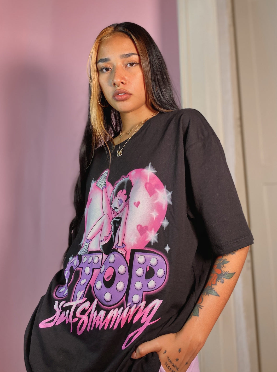 Stop Slut shaming airbrush style Pre sale ships in two weeks